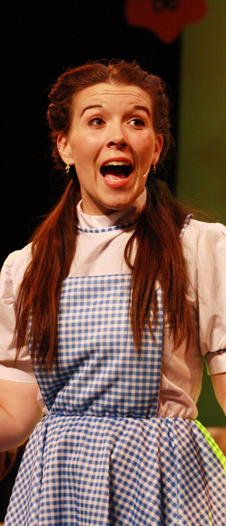 Emma Burgason as Dorothy in the Wizard of Oz
