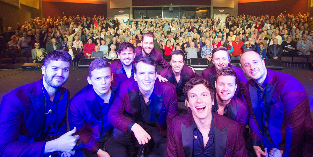 The Ten Tenors with Webb Center audience